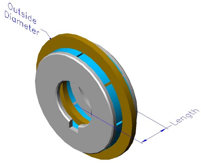 Frameless ironless brushless motors, axial, double rotor