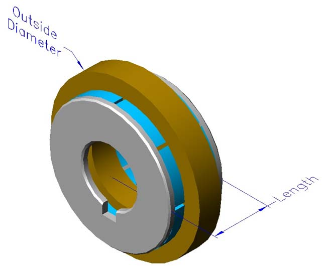 Frameless slotless iron core brushless motors, axial, double rotor